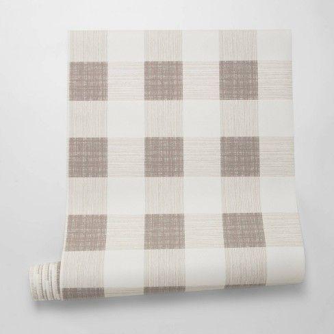 Large Gingham Wallpaper Plaid - Threshold™