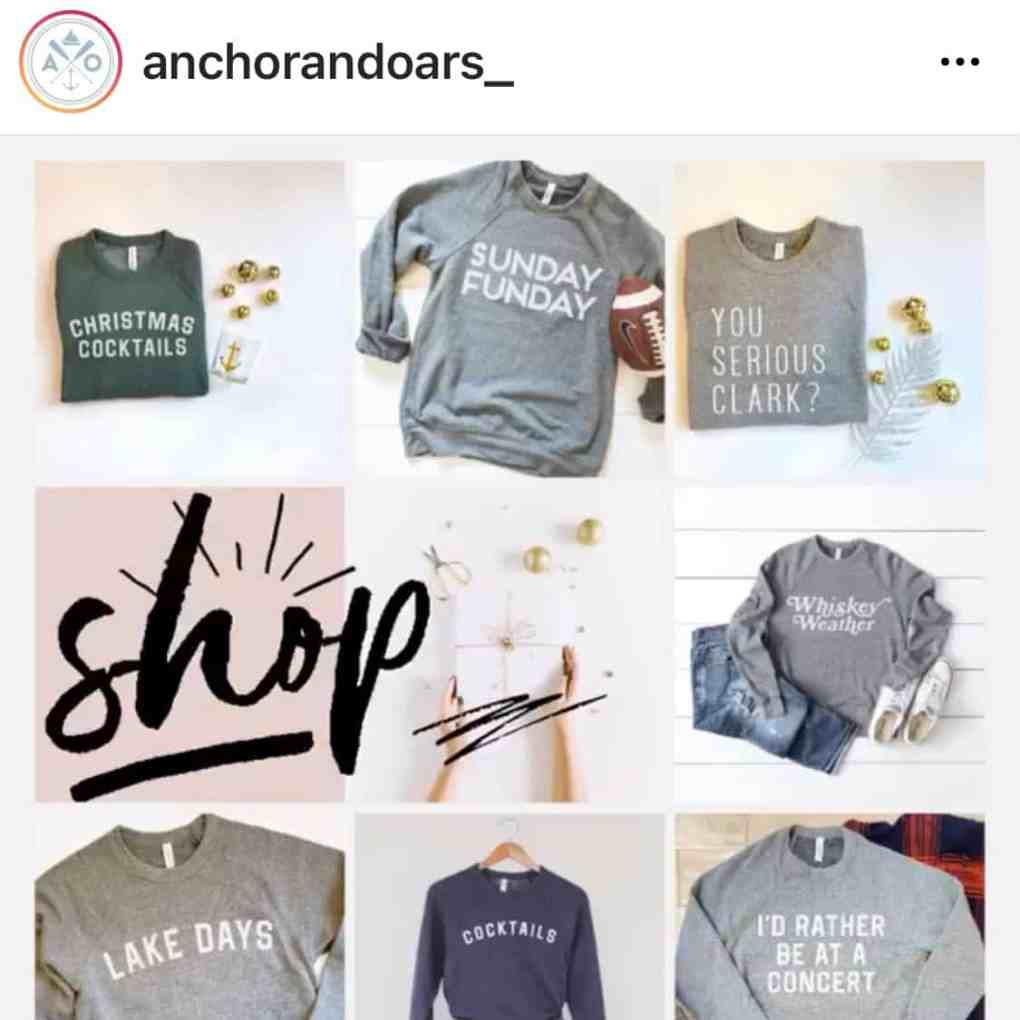 Clothing & Gifts for Lake Lovers, Boaters, and Beach Goers from Anchor and Oars on Etsy | Create&Capture 2020 Gift Guide