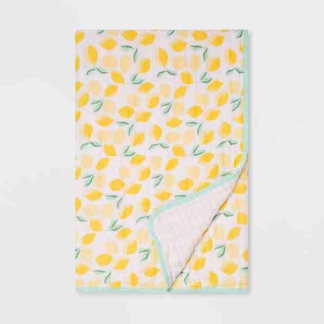 Muslin Quilt Blanket Lemons - Cloud Island™ | Create&Capture | Baby's First Easter Basket | Easter Basket Goodies From Target
