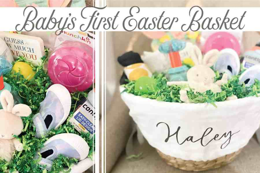 Create&Capture | Baby's First Easter Basket | Easter Basket Goodies From Target