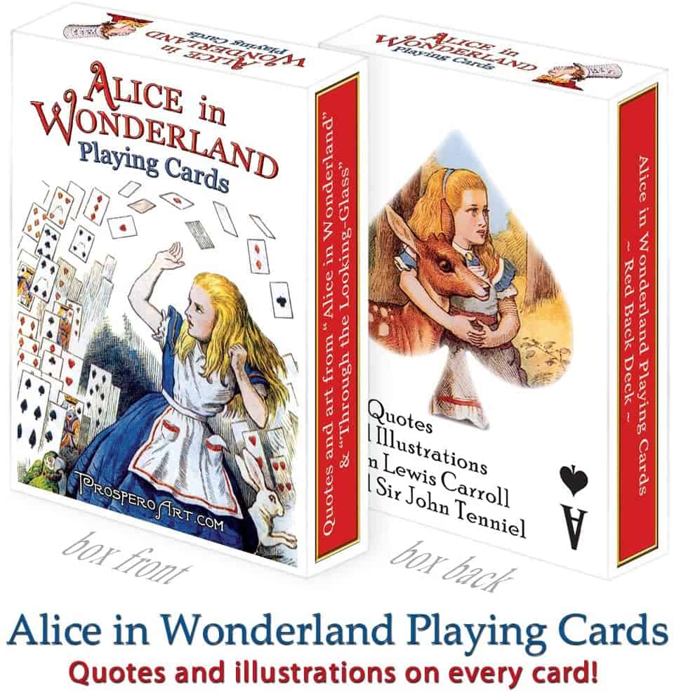 Alice In Wonderland Playing Cards - Red Back Deck    Alice In Wonderland Themed Birthday Party   Create&Capture