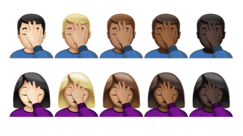 emojis demonstrating mistakes why our first blog failed