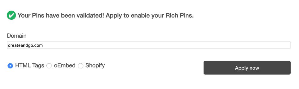 Pinterest rich pin validator