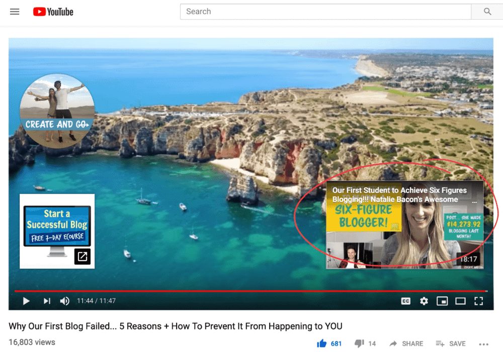 youtube end screen annotations