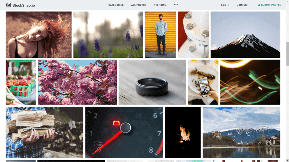 StockSnap collection of free stock photos