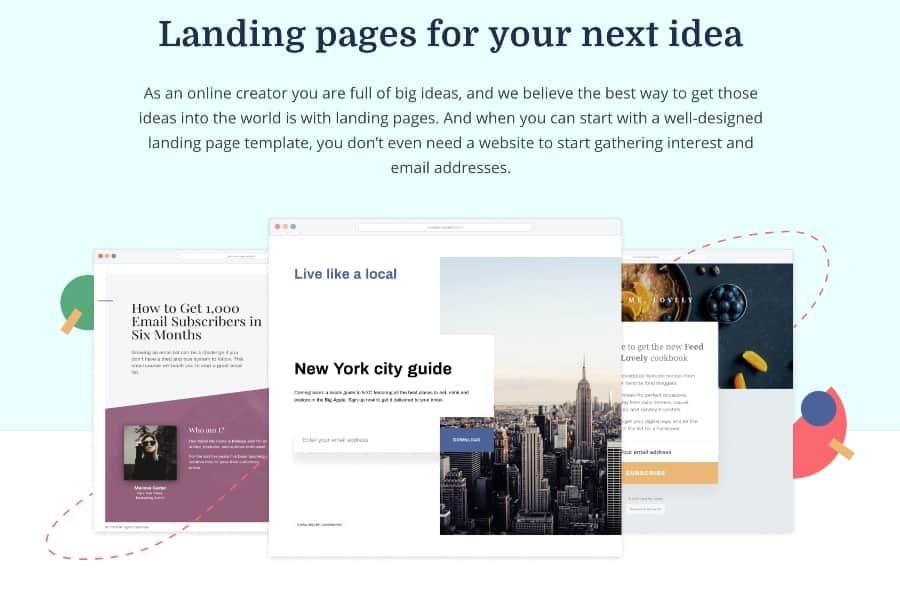 convertkit landing pages