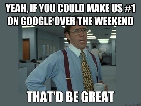 Google SEO meme