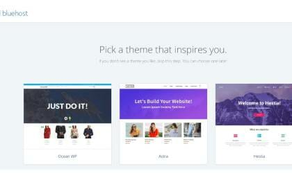 select a free WordPress theme
