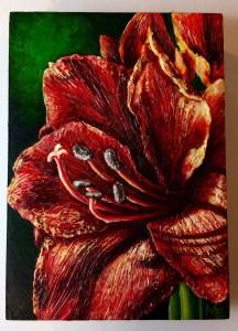 Spice Amaryllis Painting Michelle East Art