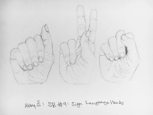 Sign Language Hand Sketchbook Assignment Ideas