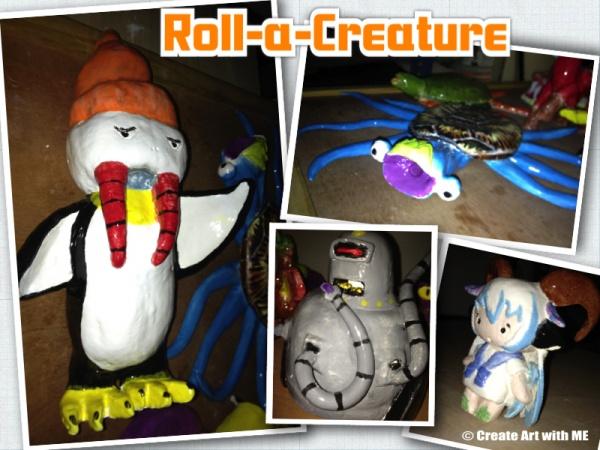Roll a Creature Ceramic Art Lesson