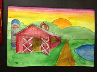 One Point Perspective Barn by Dean
