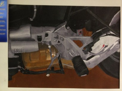 Motorcycle Observational Drawing Skills Mixed Media HS Art Lesson