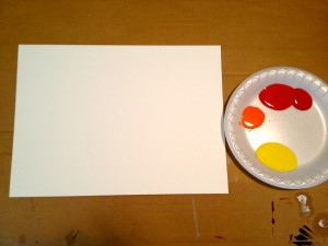 Paper surface used for example, but a canvas would work better