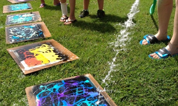 Gel Soap Resist Acrylic Painting