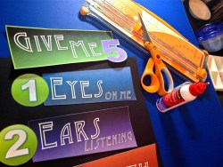 Give me 5 Classroom management Printable sign