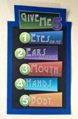 Give Me 5 Printable Sign