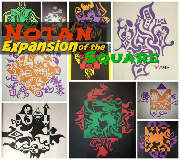 notan Expansion of the Square cut paper