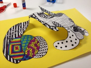 3D Zentangle Drawing lesson