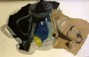 Mixed-Media Drawing Collage Project
