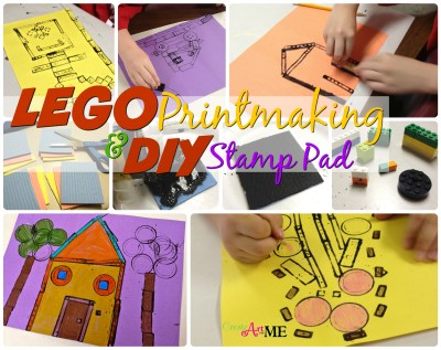 lego printmaking DIY Stamp Pad