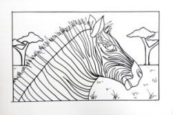 Zebra Drawing
