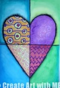 Heart Art Watercolor Resist Mixed Media