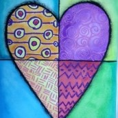 Heart Art Watercolor Resist Mixed Media