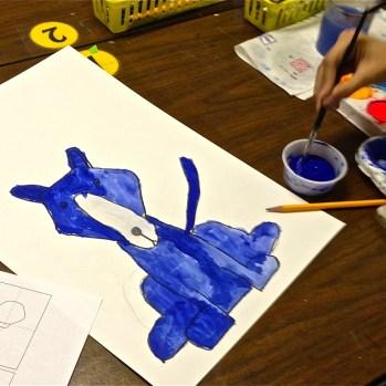 Blue Dog Art Lesson