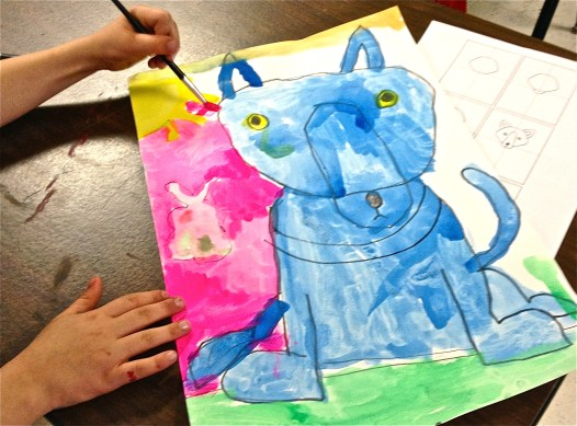 Blue Dog Art Lesson