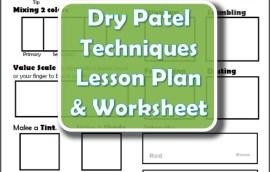 Dry Pastel Techniques Lesson Plan & Worksheet