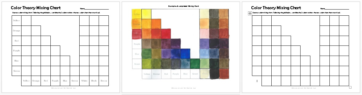 primary colour mixing chart pdf