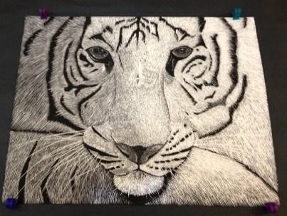 HS Scratch Art Lesson Scratch Board Value through line