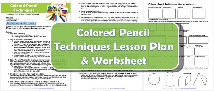 Colored Pencil Drawing Techniques Lesson Plan & Worksheetpreview
