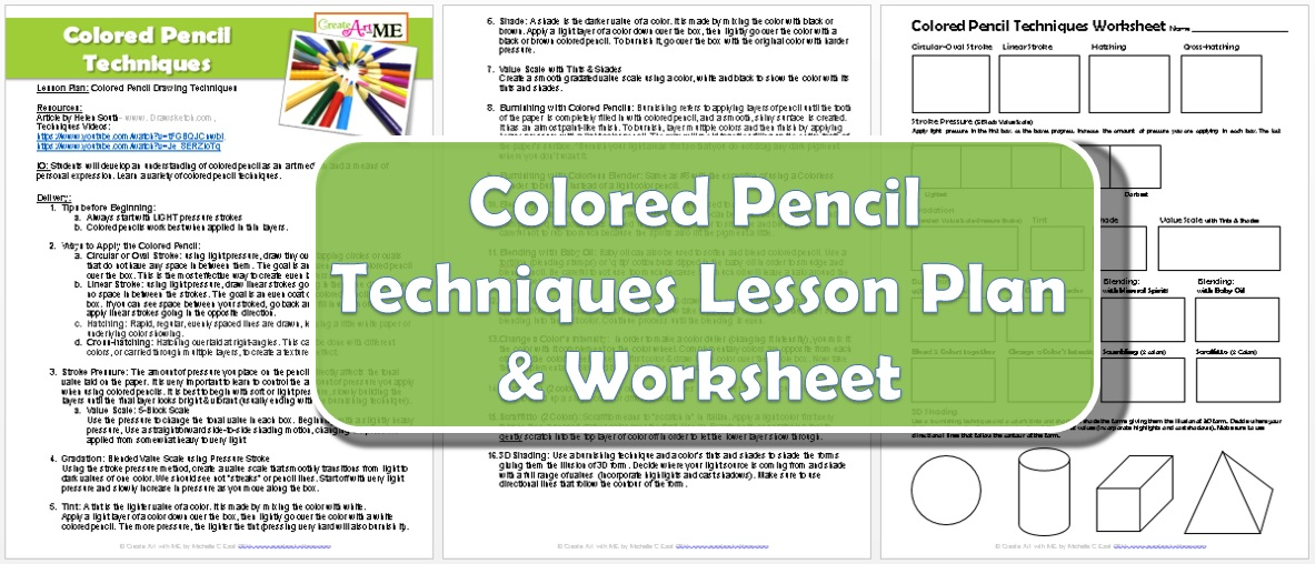 colored pencil drawing techniques lesson plan worksheet create art with me. Black Bedroom Furniture Sets. Home Design Ideas