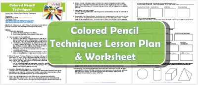 Colored Pencil Drawing Techniques Lesson Plan & Worksheet
