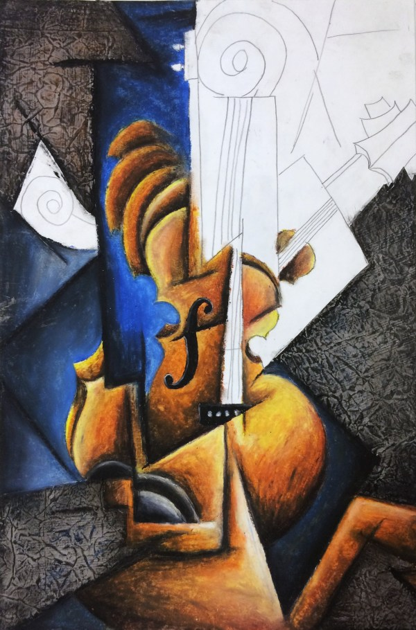 Oil Pastel Cubism Art