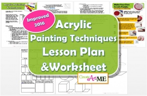 Acrylic Painting Techniques Lesson Plan & Worksheets 2016