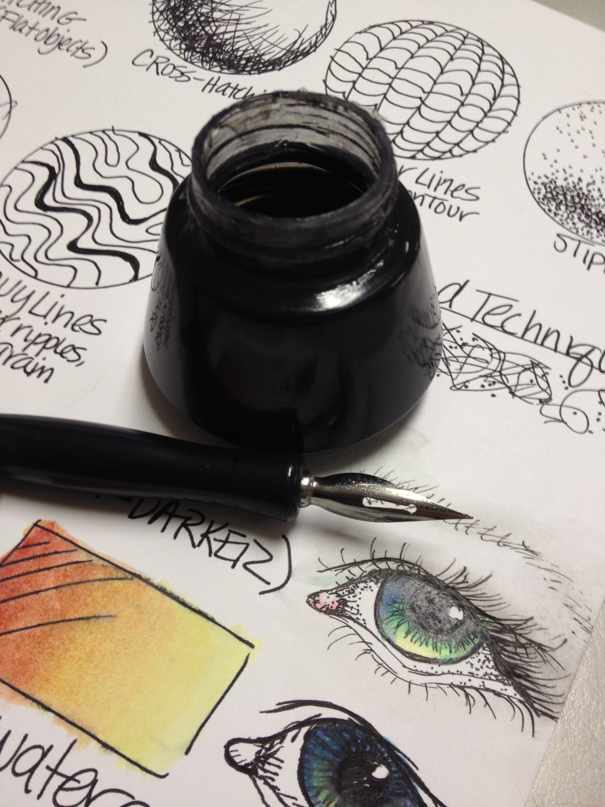Pen Amp Ink Techniques Lesson