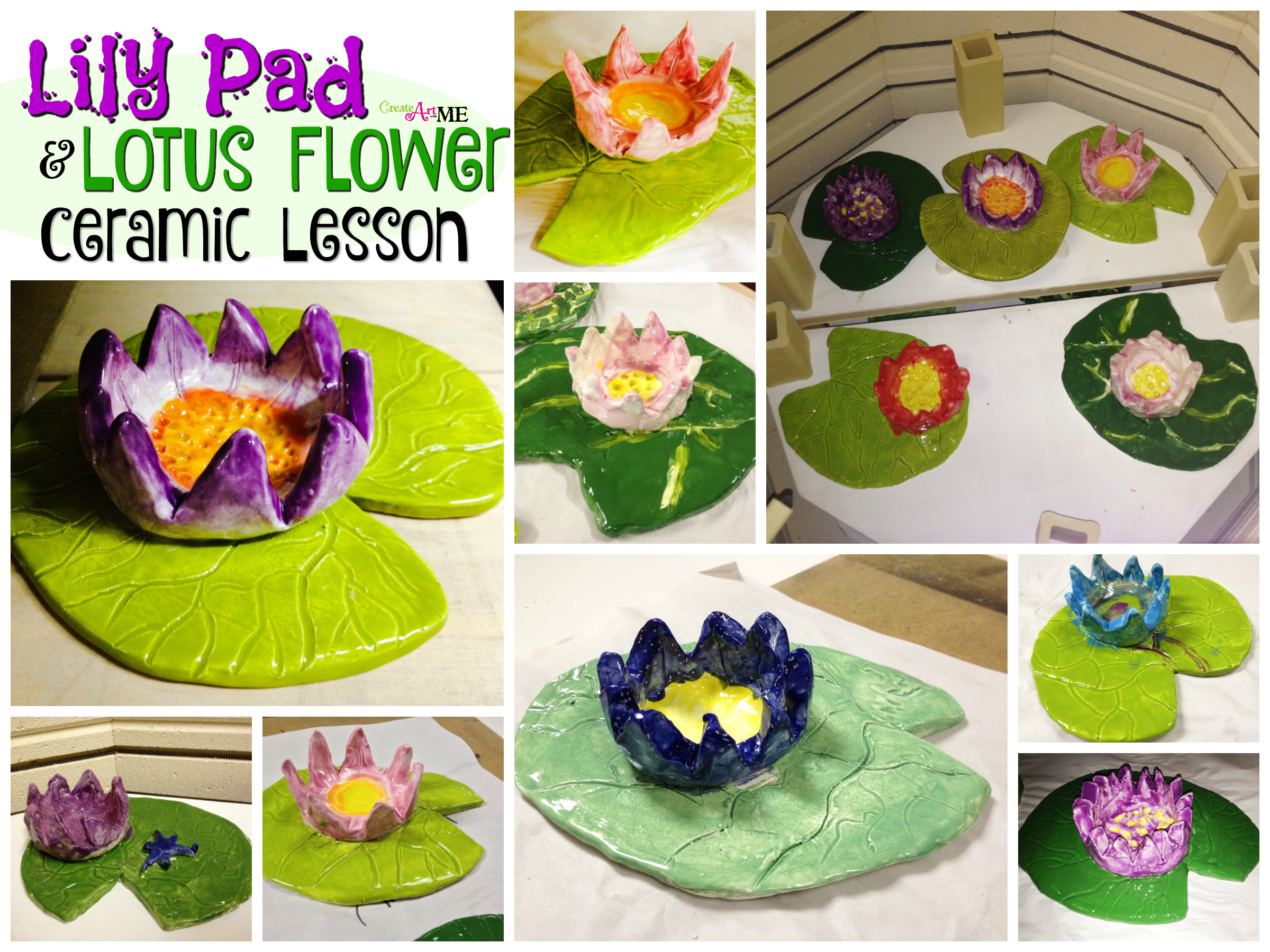 Lilypad lotus flower ceramics lesson create art with me i love ceramics this lesson is adorable lily pad lotus flower ceramics lesson is targeted for elementary 2nd 5th grade and teaches both slab pinch izmirmasajfo