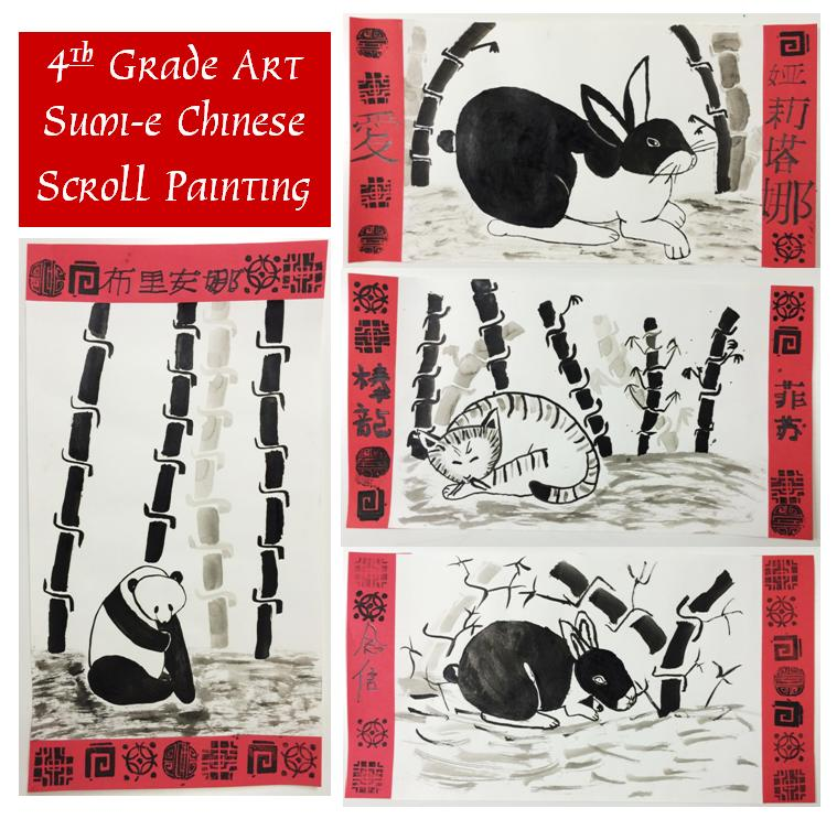 May The Fourth Be With You School Activities: Sumi-e Painting Scroll Project