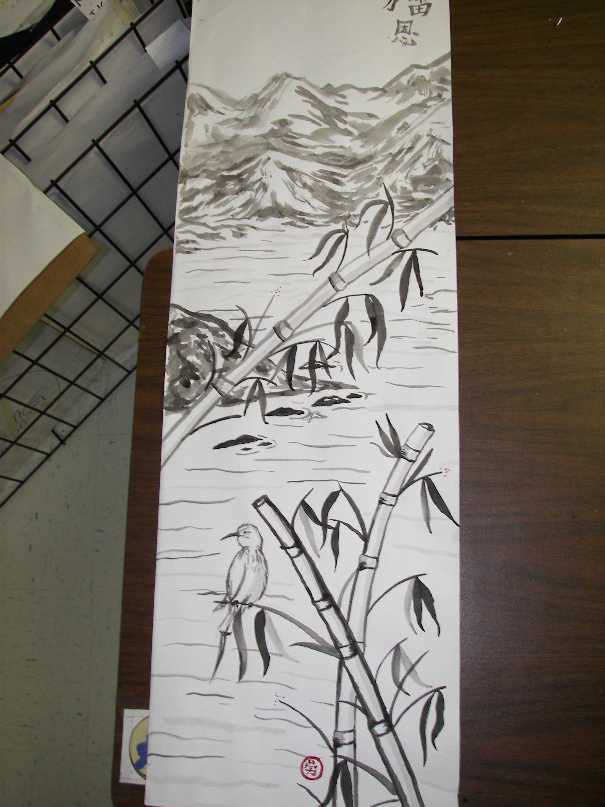 hight resolution of Sumi-e Painting Scroll Project - Create Art with ME