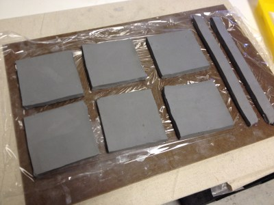 Ceramic Slab Construction Box with theme art lesson for