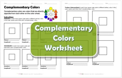Complementary Colors Worksheet