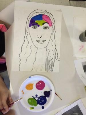 Fauvism Self Portrait Art Lesson for
