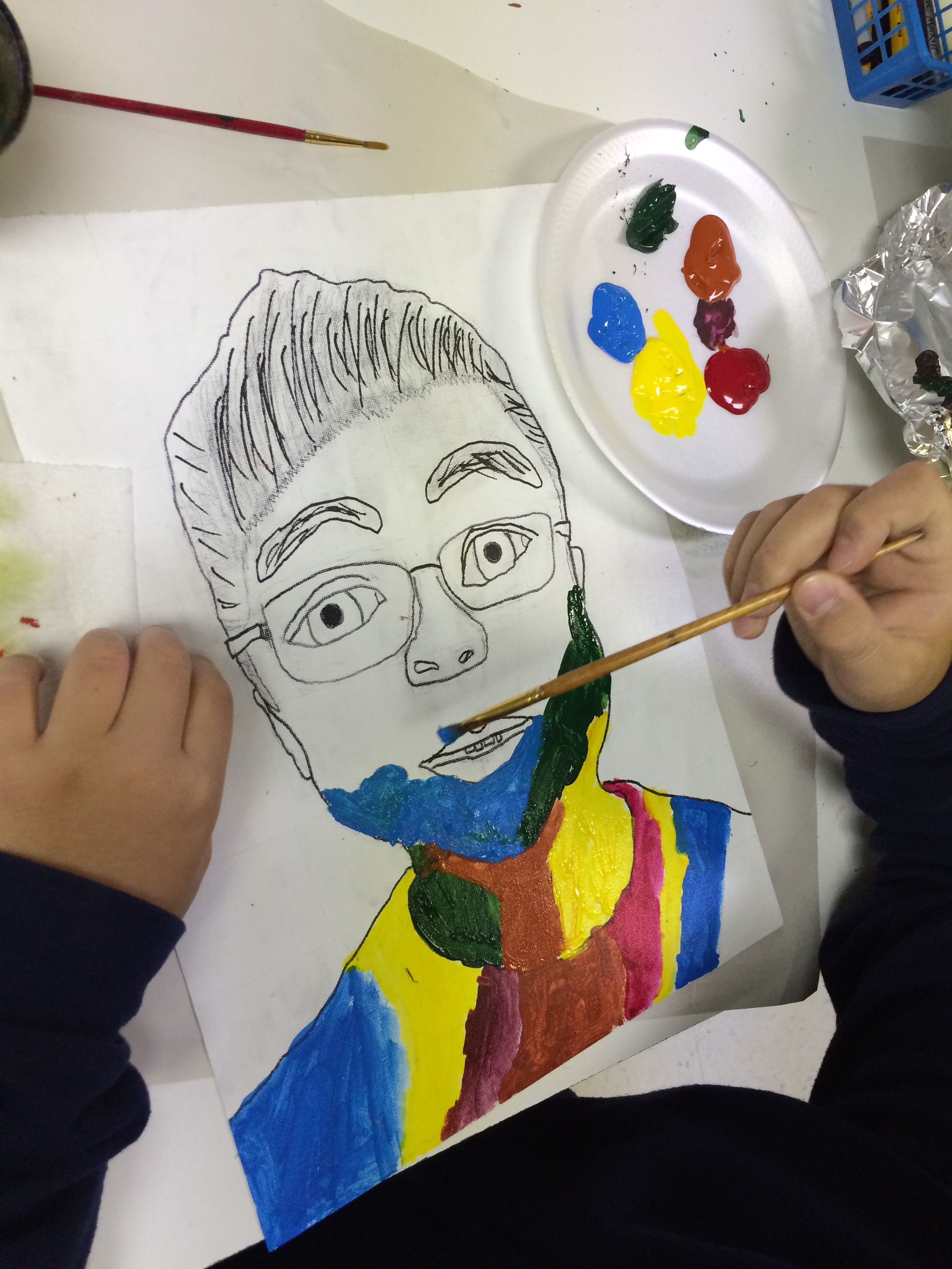 Fauvism Self Portrait Selfie Lesson