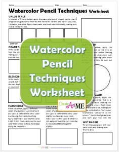 Watercolor Pencil Techniques Worksheet