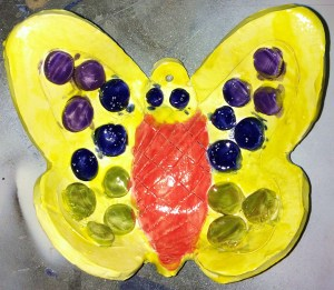 Ceramic clay Butterfly Bowls Glazed