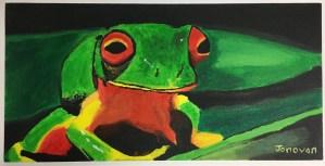 Dynamic Wild Animal Composition Acrylic Painting high school art lesson