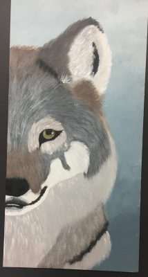 Dynamic Wild Animal Composition Acrylic Painting